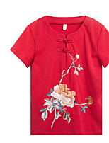 cheap -Women's Basic T-shirt - Floral