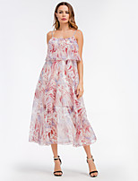 cheap -SHE IN SUN Women's Basic A Line Swing Dress - Floral