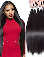 cheap -Peruvian Hair Straight Human Hair Weaves Five-piece Suit Soft Unprocessed Natural Color Hair Weaves Human Hair Extensions One Pack