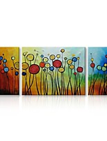 cheap -Oil Painting Hand Painted - Abstract Floral/Botanical Comtemporary Modern Canvas