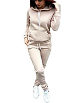 preiswerte -Damen Kapuzenshirt - Solide Hose