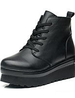 cheap -Women's Shoes Polyurethane Spring Fall Comfort Boots Creepers for Black