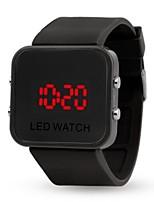 abordables -Mujer Pareja Digital Reloj de Moda Reloj Deportivo Reloj Casual Chino Calendario Reloj Casual Noctilucente Silicona Banda Casual Moda