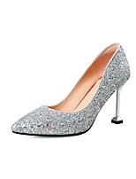 preiswerte -Damen Schuhe Paillette Frühling / Herbst Pumps High Heels Stöckelabsatz Spitze Zehe Silber / Rot / Party & Festivität