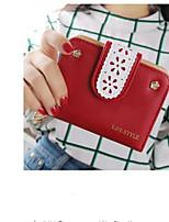 cheap -Women's Bags PU Wallet Buttons Red / Light Purple / Khaki