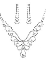 cheap -Women's Rhinestone Jewelry Set 1 Necklace Earrings - Classic Elegant Sweet Butterfly Silver Bridal Jewelry Sets For Wedding Party
