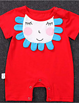 cheap -Baby Unisex Solid Colored Color Block Short Sleeve Romper