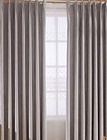 baratos -Sheer Curtains Shades Sala de Estar Sólido Geométrica Algodão / Poliéster Bordado