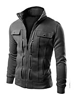 cheap -Men's Street chic Hoodie Jacket - Solid Colored