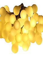 abordables -6m Guirlandes Lumineuses 40 LED Blanc Chaud Plusieurs Couleurs Décorative Piles AA alimentées 1pc