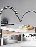 cheap -Kitchen faucet - Universal Brushed Steel Pull-out / ­Pull-down Centerset