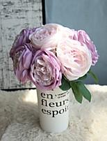 abordables -Fleurs artificielles 5 Une succursale Rustique / Fleurs de mariage Roses Fleur de Table