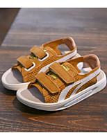 Недорогие -Мальчики Обувь Кожа Лето Удобная обувь Сандалии для Черный / Бежевый / Желтый