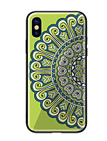 economico -Custodia Per Apple iPhone X iPhone 8 Fantasia/disegno Per retro Fiori Mandala Resistente Vetro temperato per iPhone X iPhone 8 Plus