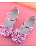 cheap -Girls' Shoes Paillette Spring Fall Flower Girl Shoes Comfort Flats for Casual White Blue Pink