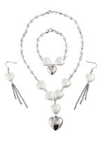 cheap -Women's Pearl Jewelry Set 1 Necklace / 1 Bracelet / Earrings - Sexy / Fashion Silver Bridal Jewelry Sets For Wedding / Daily