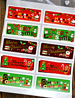 cheap -Holiday Stickers, Labels & Tags - 10pcs Christmas Rectangle Stickers All Seasons