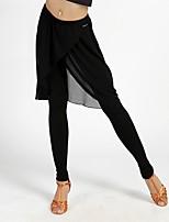 abordables -Danse latine Bas Femme Utilisation Spandex Coton cristal Ruché Taille moyenne Pantalon