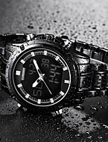Недорогие -Муж. Кварцевый Нарядные часы Японский Календарь Фосфоресцирующий Хронометр Нержавеющая сталь Группа Роскошь Cool Черный Золотистый