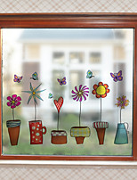 cheap -Window Film & Stickers Decoration Contemporary Flower / Floral PVC Window Sticker Matte