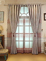 cheap -Curtains Drapes Living Room Geometric Cotton / Polyester Printed
