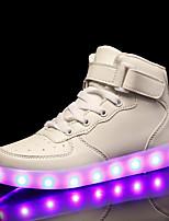Недорогие -Мальчики / Девочки Обувь Полиуретан Наступила зима Обувь с подсветкой Кеды LED для Белый / Черный / Красный