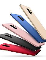 Недорогие -Кейс для Назначение SSamsung Galaxy S9 Plus / S9 Ультратонкий Кейс на заднюю панель Однотонный Твердый ПК для S9 / S9 Plus / S8 Plus