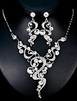 preiswerte -Damen Schmuck-Set 1 Halskette / Ohrringe - Modisch / Europäisch Geometrische Form Silber Schmuckset Für Hochzeit / Alltag