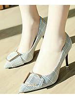 preiswerte -Damen Schuhe PU Frühling Herbst Pumps Komfort High Heels Stöckelabsatz für Schwarz Rot