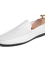 cheap -Men's Shoes Leatherette Summer Fall Comfort Loafers & Slip-Ons for Casual Office & Career White Black Orange