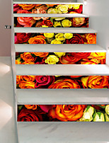 abordables -Tatuajes de pared Calcomanías Decorativas de Pared Pegatinas de piso - Calcomanías 3D para Pared 3D Floral / Botánico Puede Cambiar de