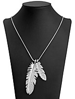 cheap -Pendant Necklace  -  Leaf Sweet, Fashion White 89 cm Necklace For Daily, Evening Party