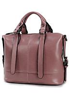 cheap -Women's Bags Cowhide Tote Zipper for Casual All Seasons Blue Black Blushing Pink Purple