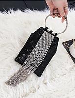 cheap -Women's Bags Terylene Clutch Zipper for Casual Black / Silver