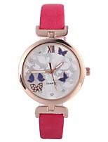 Недорогие -Жен. Кварцевый Наручные часы Китайский Повседневные часы PU Группа На каждый день Мода Черный Синий Красный Коричневый Фуксия