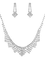 cheap -Women's Jewelry Set 1 Necklace / Earrings - Classic / Elegant / Sweet Geometric Silver Bridal Jewelry Sets For Wedding / Party