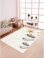 cheap -Doormats / Bath Mats / Area Rugs Sports & Outdoors / Modern Flannelette, Rectangle Superior Quality Rug / Latex Non Skid