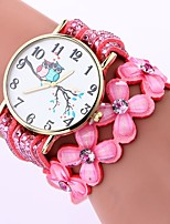 baratos -Mulheres Quartzo Bracele Relógio Chinês Relógio Casual PU Banda Casual Fashion Preta Branco Azul Marrom Rosa Roxa Fúcsia Azul Marinho