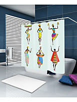 cheap -Shower Curtains & Hooks Classic Neoclassical Polyester Contemporary Novelty Machine Made Waterproof Bathroom