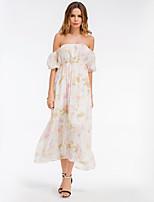 cheap -SHE IN SUN Women's Basic A Line Swing Dress - Floral