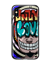 abordables -Funda Para Apple iPhone X iPhone 8 Diseños Funda Trasera Caricatura Dura Vidrio Templado para iPhone X iPhone 8 Plus iPhone 8 iPhone 7