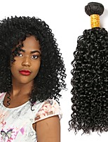 cheap -Malaysian Hair Curly Gifts / Natural Color Hair Weaves / Costume Accessories 1 Bundle 8-28 inch Human Hair Weaves Machine Made Gift / Party / Best Quality Natural Black Human Hair Extensions Unisex