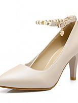 abordables -Mujer Zapatos Semicuero Primavera / Otoño Confort / Innovador Tacones Tacón Stiletto Dedo Puntiagudo Perla de Imitación Rojo / Azul / Rosa