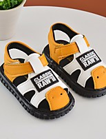 cheap -Girls' Boys' Shoes Leatherette Summer First Walkers Comfort Sandals for Casual Black Yellow Red