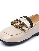 preiswerte -Mädchen Jungen Schuhe PU Frühling Herbst Komfort Loafers & Slip-Ons für Normal Weiß Schwarz Braun