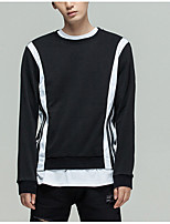 cheap -Men's Basic Street chic Pullover - Color Block