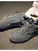 Недорогие -Муж. обувь Синтетика / Свиная кожа Весна / Осень Удобная обувь Кеды Черный / Серый / Темно-коричневый