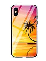abordables -Funda Para Apple iPhone X iPhone 8 Diseños Funda Trasera Plantas Paisaje Dura Vidrio Templado para iPhone X iPhone 8 Plus iPhone 8 iPhone