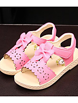 cheap -Girls' Shoes Synthetic Microfiber PU Summer Flower Girl Shoes Comfort Sandals for Casual White Pink Light Pink