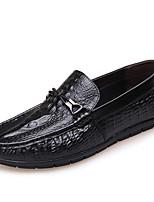 Недорогие -Муж. обувь Кожа Весна Осень Формальная обувь Удобная обувь Мокасины и Свитер для Повседневные Для вечеринки / ужина Черный Вино